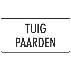 'Tuig paarden' stickers (wit)