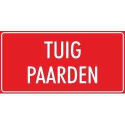 'Tuig paarden' stickers (rood)
