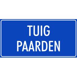 'Tuig paarden' stickers (blauw)