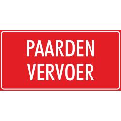 'Paarden vervoer' stickers (rood)