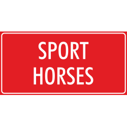 'Sport horses' stickers (rood)