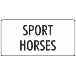 'Sport horses' stickers (wit)