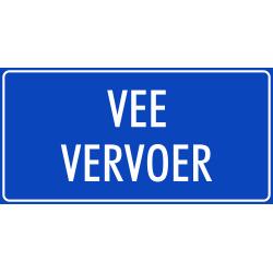 'Vee vervoer' stickers (blauw)