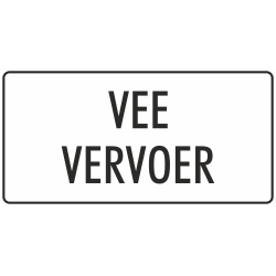 'Vee vervoer' stickers (wit)