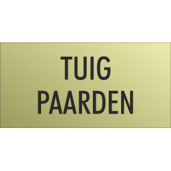 'Tuig paarden' bordjes (Gold look)