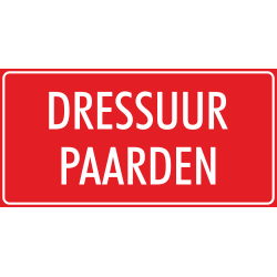 'Dressuur paarden' bordjes (rood)