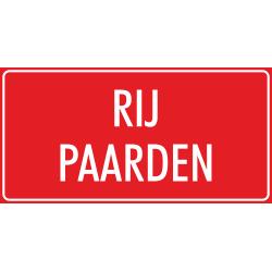 'Rijpaarden' bordjes (rood)