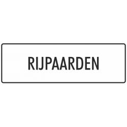 'Rijpaarden' bordjes (wit)