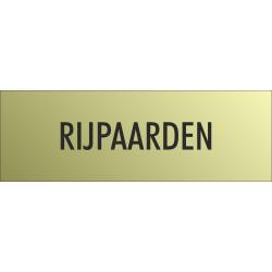 'Rijpaarden' bordjes (Gold look)