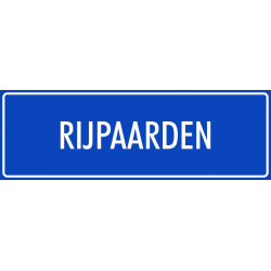 'Rijpaarden' bordjes (blauw)