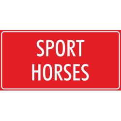 'Sport horses' bordjes (rood)