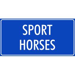 'Sport horses' bordjes (blauw)