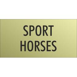 'Sport horses' bordjes (Gold look)