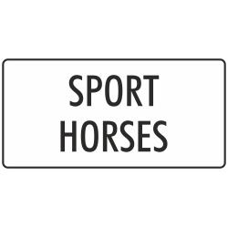 'Sport horses' bordjes (wit)