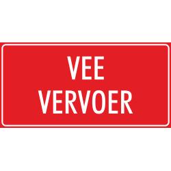 'Vee vervoer' bordjes (rood)