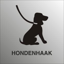 Hondenhaak bordjes (RVS Look)