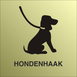 Hondenhaak bordjes (Gold Look)