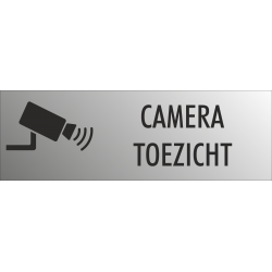 Camera toezicht bordjes (RVS Look)