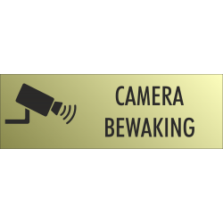 Camera bewaking bordjes (Gold Look)