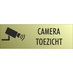 Camera toezicht bordjes (Gold Look)