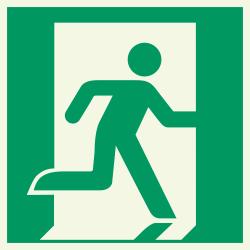 Vluchtdeur (rechts) luminiscerende stickers