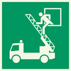 Evacuatievenster luminiscerende stickers