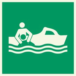 Reddingsboot luminiscerende stickers