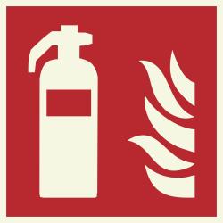Blusapparaat (brandblusser) luminiscerende stickers