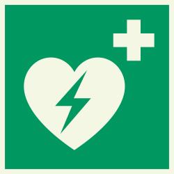 Automatische Externe Defibrillator (AED) luminescerende bordjes