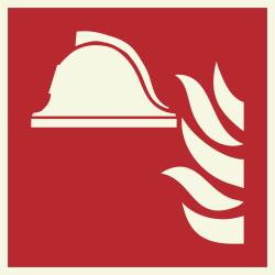 Brandbestrijdingsmiddelen luminescerende bordjes
