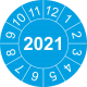 Keuringsstickers met jaartal (blauw)
