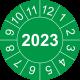 Keuringsstickers met jaartal (groen)