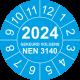 Keuringsstickers met NEN 3140 en jaartal (blauw)