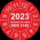 Keuringsstickers met NEN 3140 en jaartal (rood)