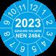 Keuringsstickers met NEN 2484 en jaartal (blauw)