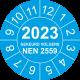 Keuringsstickers met NEN 2559 en jaartal (blauw)