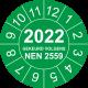Keuringsstickers met NEN 2559 en jaartal (groen)