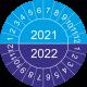 Keuringsstickers met dubbel jaartal (blauw)