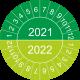 Keuringsstickers met dubbel jaartal (groen)