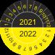 Keuringsstickers met dubbel jaartal (geel-zwart)