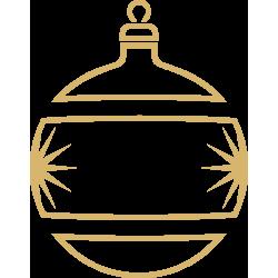 Kerstbal decoratiesticker raam (Goudkleurig)