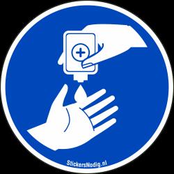 Desinfecterende gel stickers