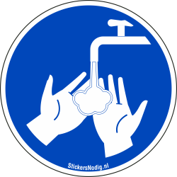 Handen wassen stickers