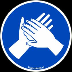 Handen inzepen stickers