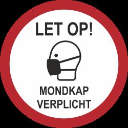 Mondkap verplicht (rond) sticker