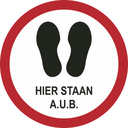Hier staan a.u.b. (rond) sticker