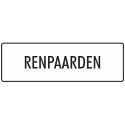 'Renpaarden' bordjes (wit)