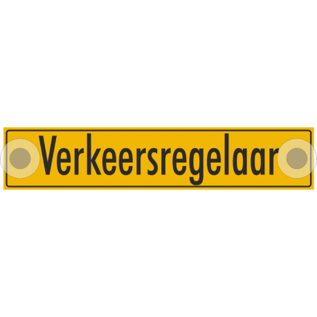Verkeersregelaar bordjes (reflecterend)
