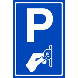 Betaald parkeren bordje