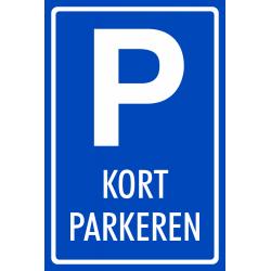 Kort parkeren bordje